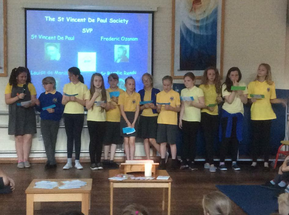 Y6 Mini Vinnies tell us how the SVP began.
