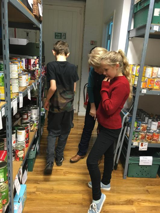 FoodBank volunteers helped us find items.