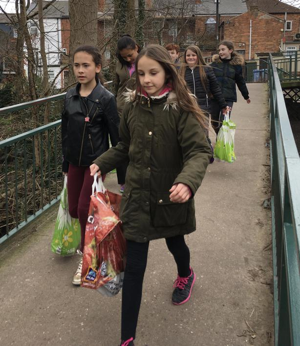 Bringing food to the Food Bank
