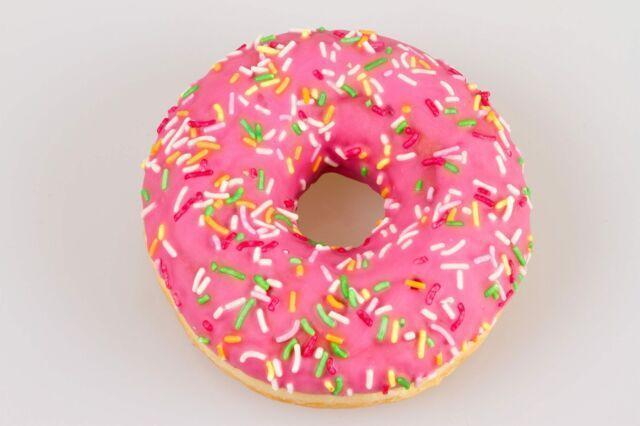 Pink sprinkle doughnut