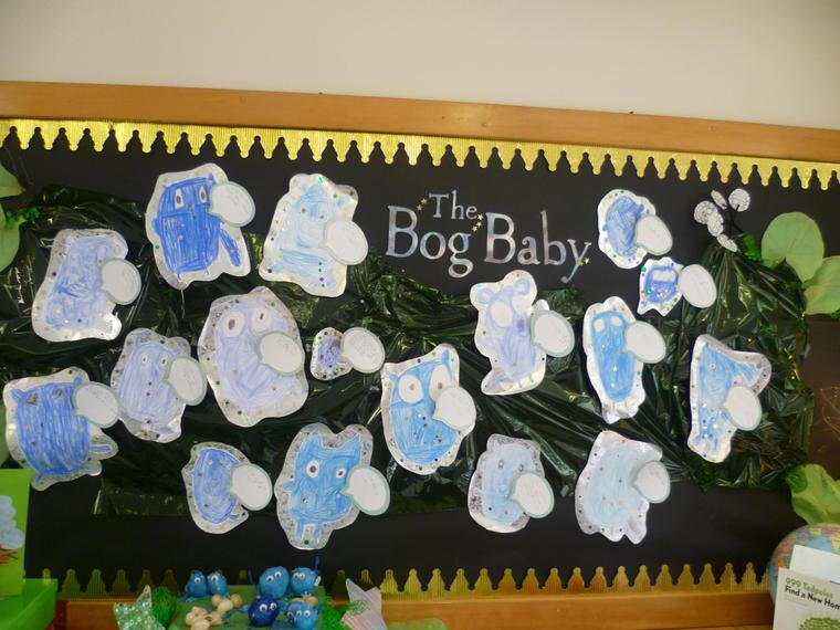 Pictures of the Bog Baby by previous children