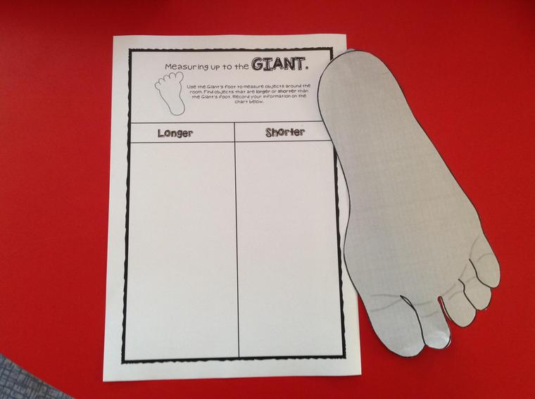 Work sheet and Giant's foot