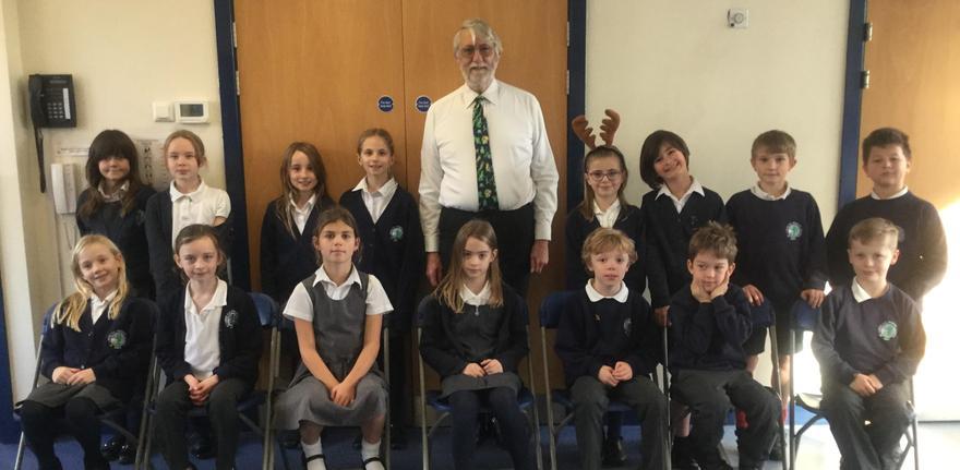 Mr Dingle with the school choir