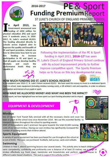 Sports Premium Report February 2017