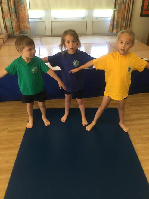 Y1 Gymnastics - making shapes