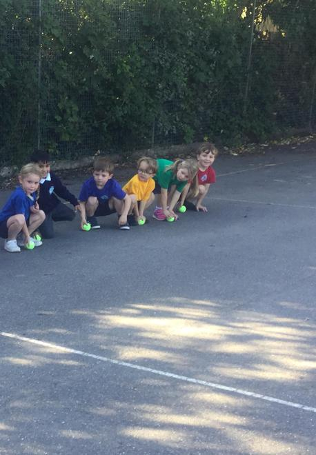 YR Outdoor PE - learning to control a rolling ball