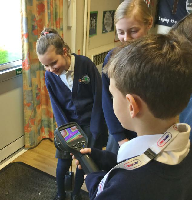 Learning how to use the thermal imaging camera