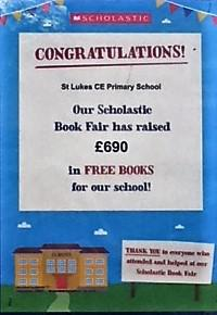 Our Scholastic Book Fair raised £690