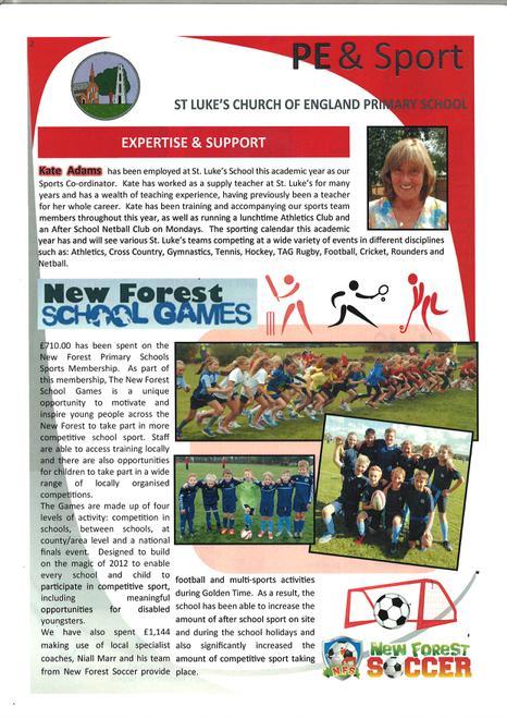 Sports Premium Report February 2016