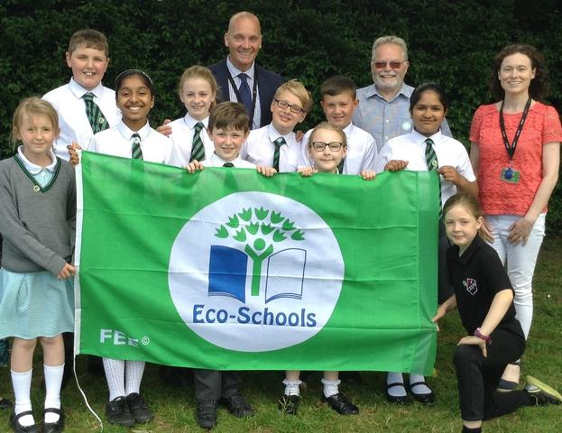 ECO Team with Mr Rafferty (Principal), ECO Assessor * Mrs Butler (ECO Coordinator)