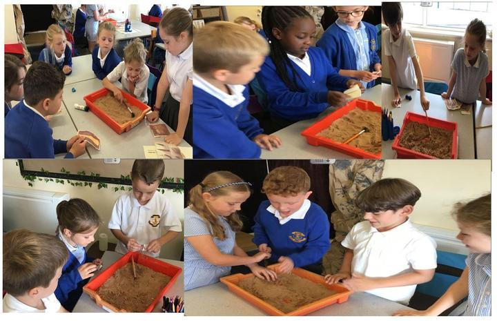 Class 3 digging for artefacts!