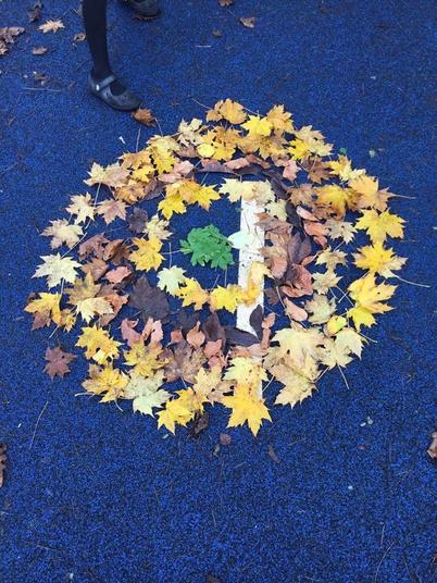 Andy Goldsworthy inspired piece