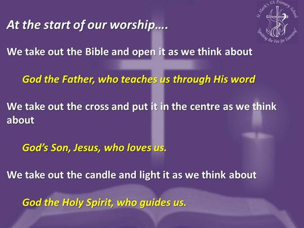 1. At the start of our worship