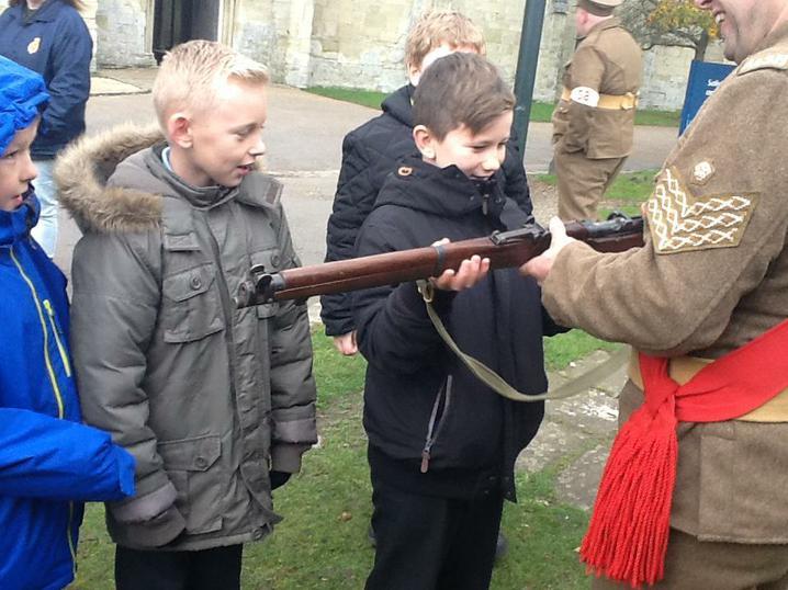 A replica gun (really heavy!)
