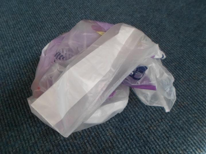 A plastic bag