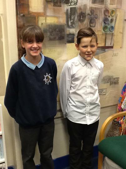 School Council Reps: Molly and Ben