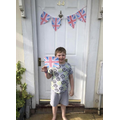 George made bunting and flags for VE Day