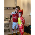Y4 The Invincibles Arsenal Team and Reception Zog the Dragon