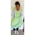 Reception dressed up as Tinkerbell/Esme the Emerald Fairy for World book day