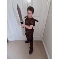 Y4 Roman Soldier costume for World Book Day