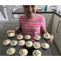 Rio with her amazing VE Day baking