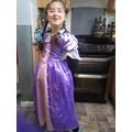 Y2 dressing up as Repunzel