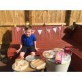 Stanley celebrating VE Day with a lovely picnic