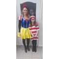Y5 and Mrs Kelly on World Book Day