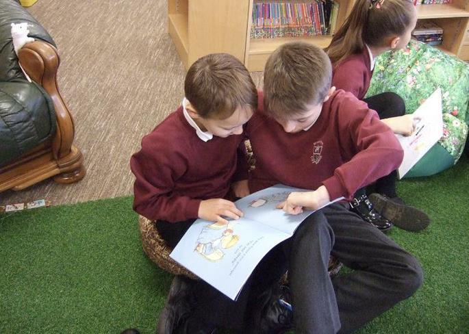 Jude Y6 and Alfie Y1 Reading Buddies
