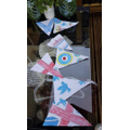 Ella-Mai created her own colourful bunting