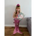 Y1 Dressed Up Mermaid World Book Day
