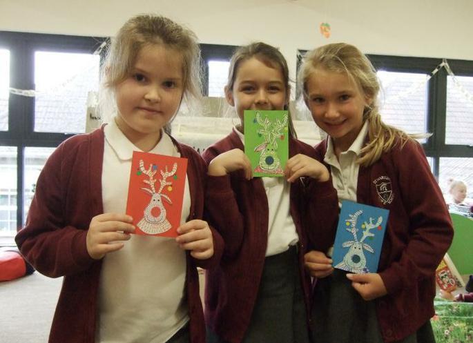 Tilly Mia Freya Y3 Reindeer Cards