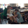 Looking after a poorly teddy