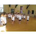 Y1 Children learning their marching dance