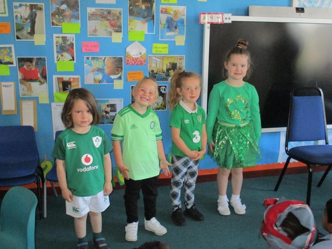 Clothes representing Ireland