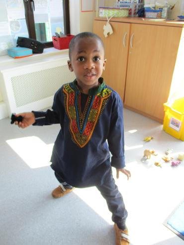 Clothes representing African heritage