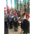 Our choir singing at Kings Mill Hospital