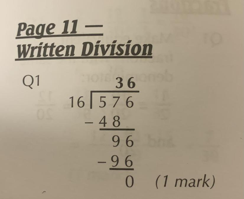 Maths answers 1