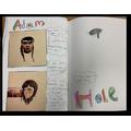 Y5 Sketchbook Work - Responding to their focus artist, Adam Hale.
