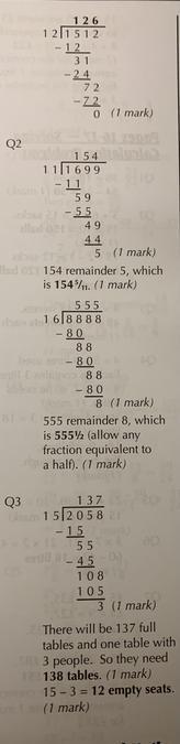 Maths answers 2