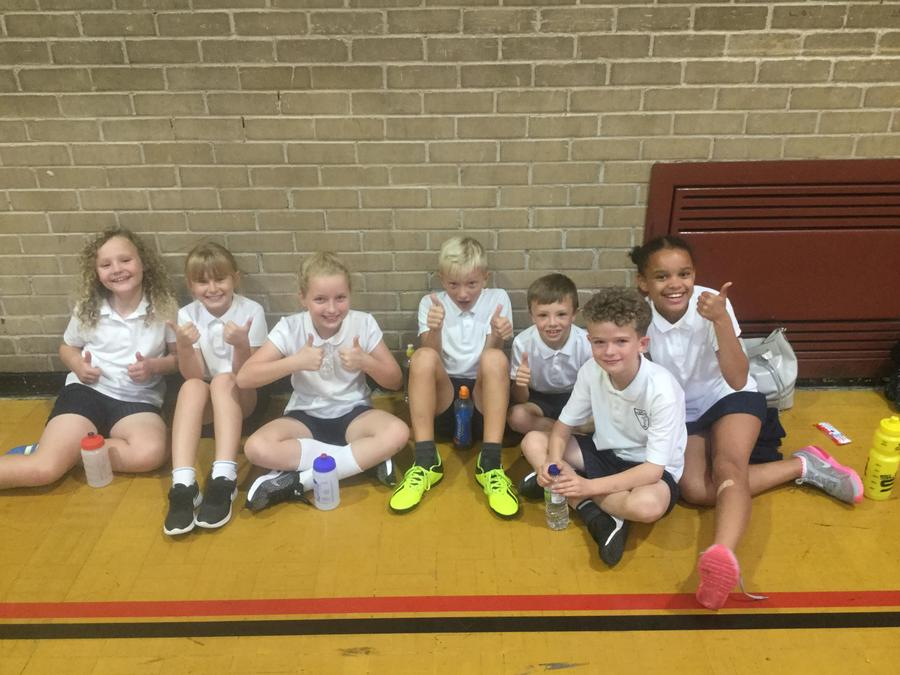 Year 4 and 5 after their personal best challenges.
