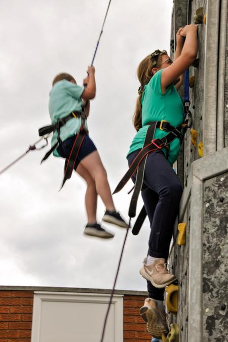Summer Fair Climbing Wall