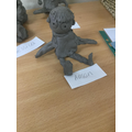 Y3 Clay Sculptures based on Giacometti