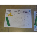 Using tens and ones for subtraction.
