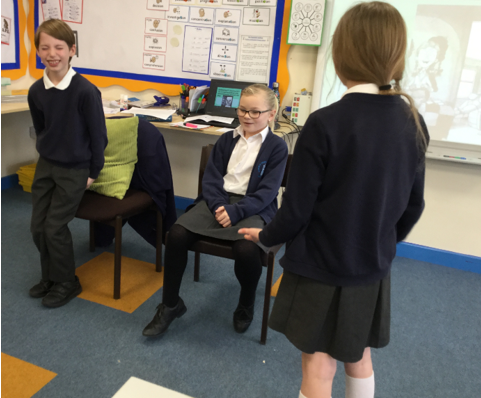 Using drama to explore Chapter Two.