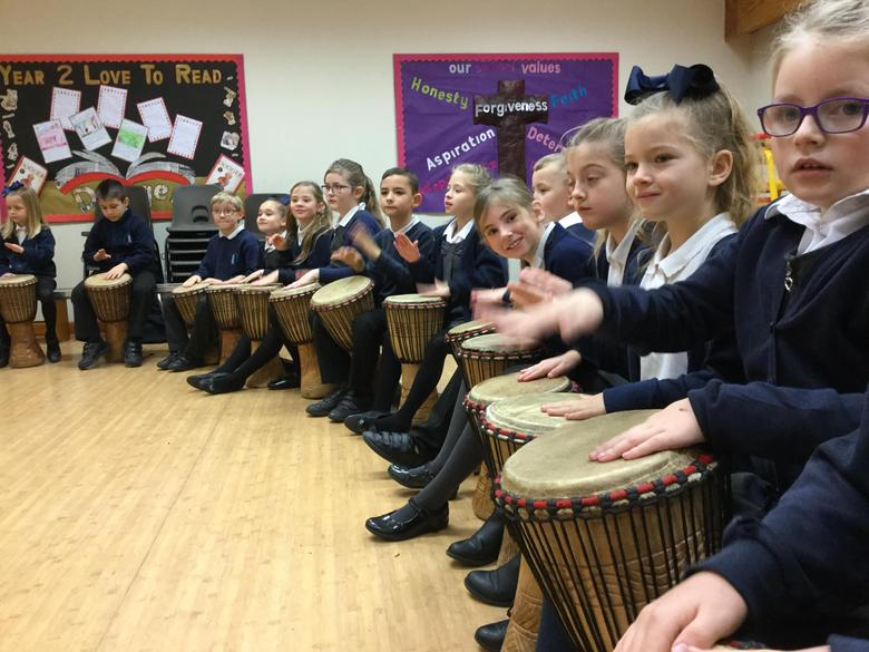 Year 3 and 4- African Drumming Workshop