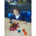 Making our own crystals using polydron.