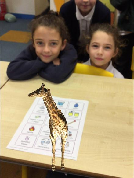 Y4 Use Augmented Reality as a stimulus for writing