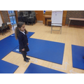 Gym mats helped us with 1/2 and 1/4 turns
