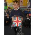 A union jack cake that we all enjoyed eating!